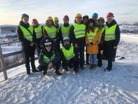 Teachers and students of the Department of construction, heat power engineering and transport made a return visit to the Vocational College of Kirkenes